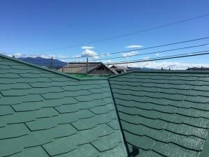 施工事例:スレート屋根遮熱フッ素塗装