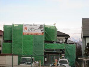 伊勢崎市上蓮町の外壁塗装工事