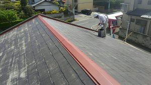 前橋川原郵便局屋根塗装