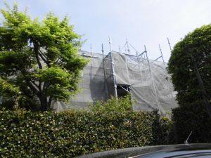 前橋市石倉町外壁塗装着工!