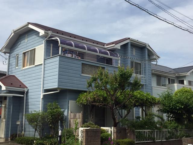 渋川市半田スレート屋根遮熱塗装