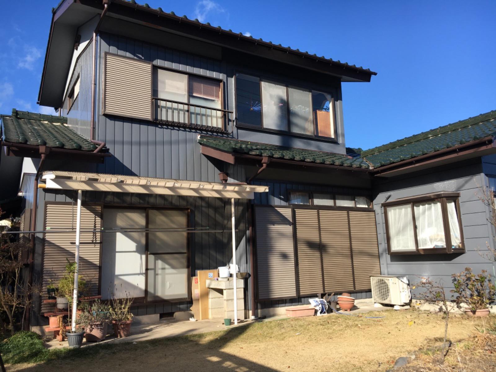 渋川市金井 金属サイディング塗装