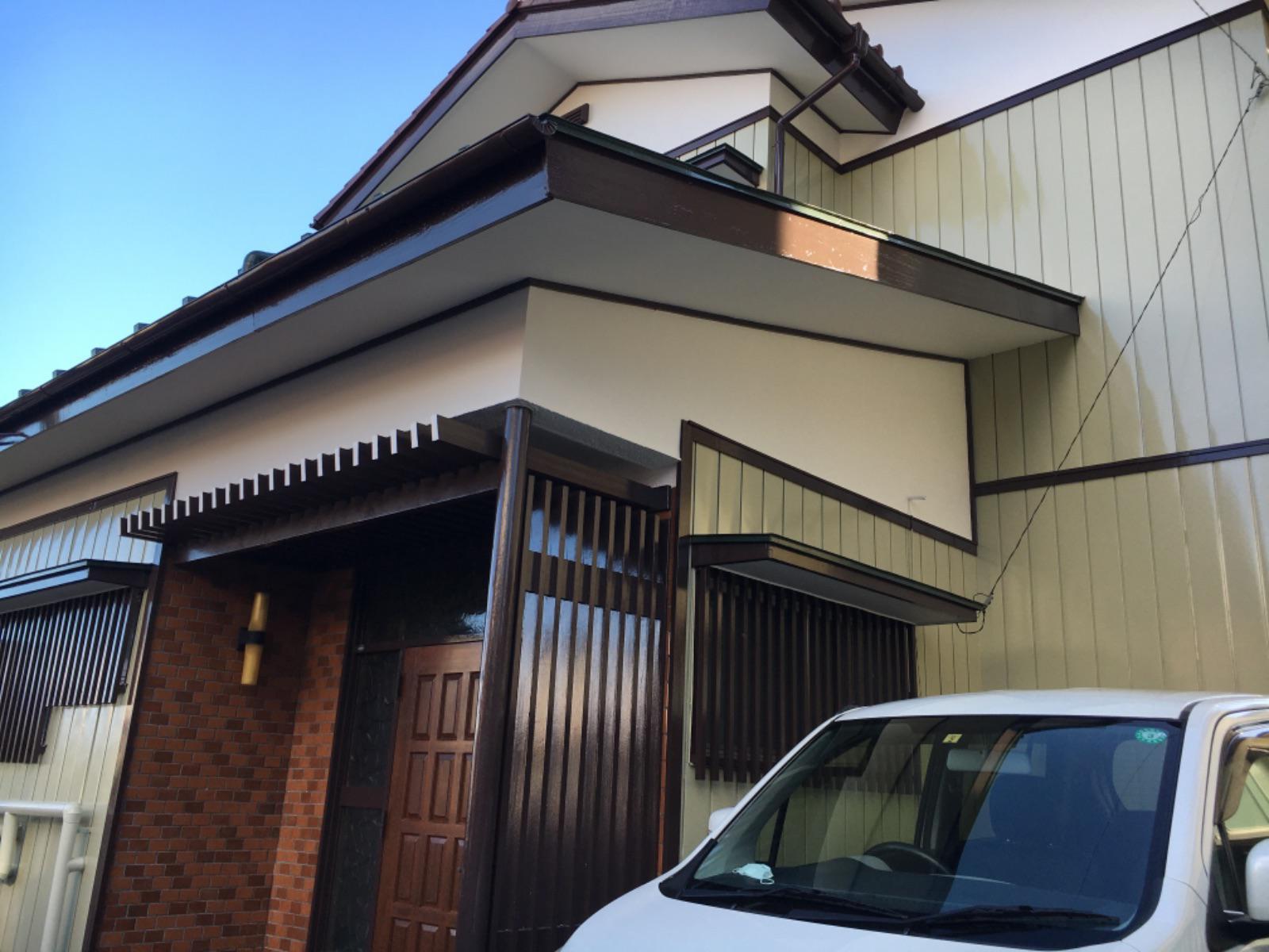 渋川市渋川 金属サイディング塗装