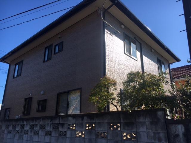 渋川市北橘町 無機フッ素クリヤー塗装